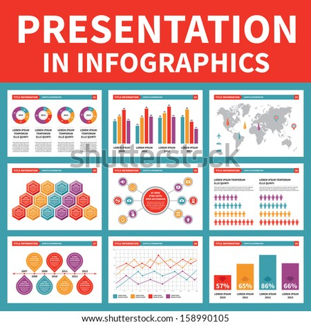Presentation in Infographic - Vector Illustration - stock vector