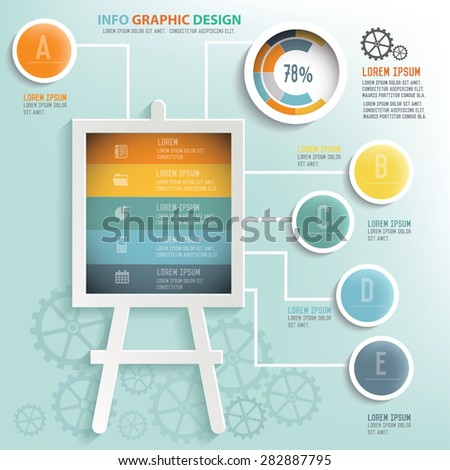 Presentation info graphic design, Business concept design. Clean vector. - stock vector