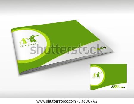 Presentation of brochure cover design template., vector illustartion. - stock vector