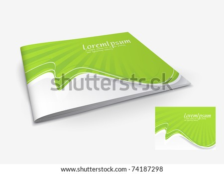 Presentation of brochure cover design template., vector illustartion. - stock vector