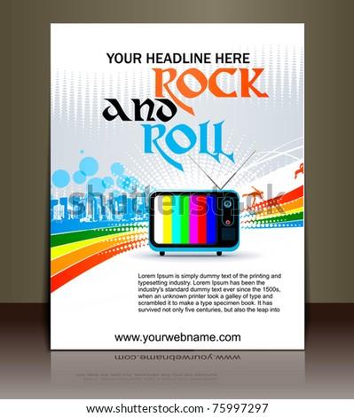 Presentation of flyer design content background. editable vector illustration - stock vector