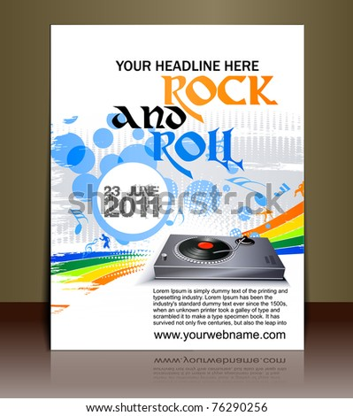 Presentation of flyer design content background. editable vector illustration - stock vector