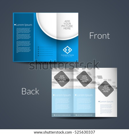 Presentation Modern Tri Fold Brochure Design Stock Vector