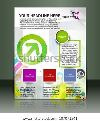 Presentation of Poster/flyer design content background. editable vector illustration - stock vector