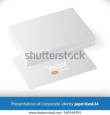 Presentation of the company letterhead. A template for the presentation. - stock vector