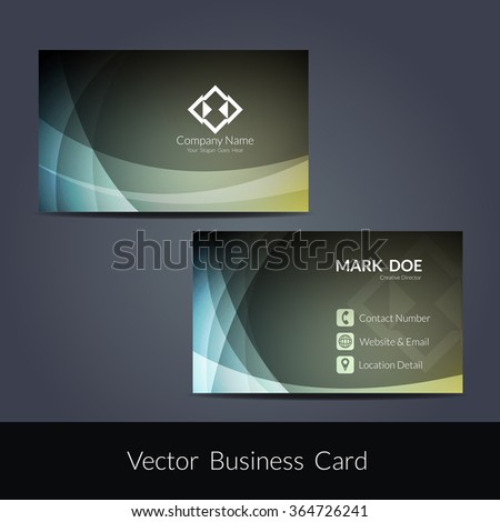 Presentation of visiting card design - stock vector