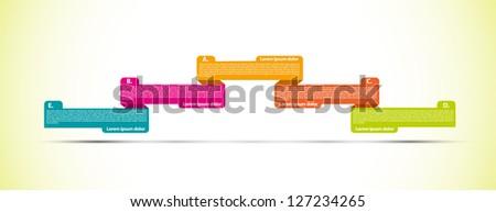Presentation ribbons - stock vector
