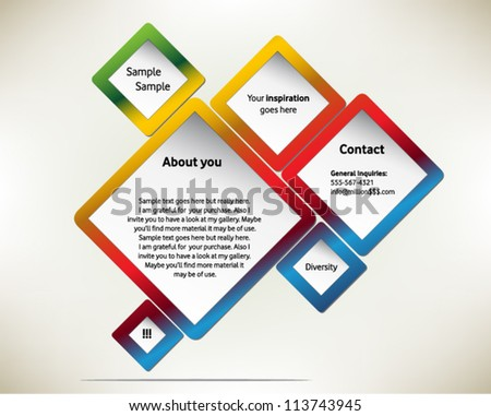 Presentation slide template editable at your choosing with your words. Abstract design draft proposal. Business background. Slide concept.  Vector illustration. - stock vector