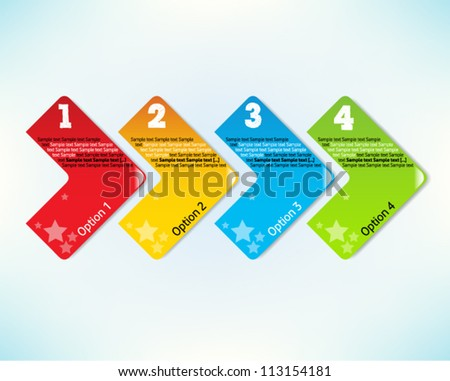 Presentation slide template editable at your choosing with your words EPS10. Numbered background 1, 2, 3, 4 one two three four. Business background. Slide concept. Vector illustration. - stock vector
