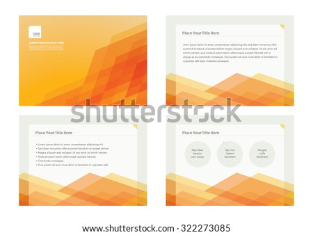 Presentation slides template design/ Brochure cover and page layout template/ Business card and stationery design Abstract background pattern/ Web banner design/  - stock vector
