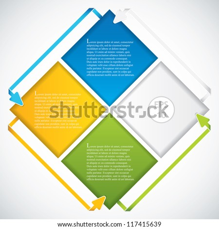 Presentation Template.Business arrows vector - stock vector