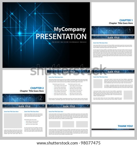 presentation template - business company slide show design - vector editable - stock vector