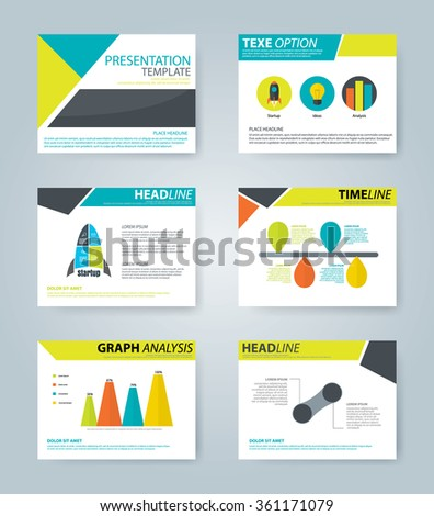 Presentation template collection,business infographic element set,vector illustration - stock vector