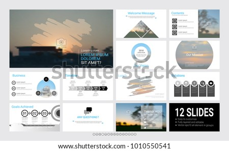 presentation template infographic elements designs cover stock