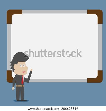 presenting - stock vector