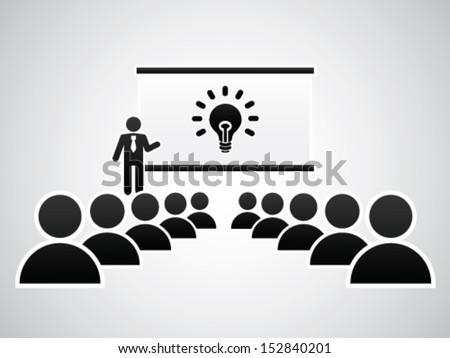 Presenting The Idea - stock vector