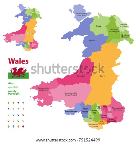 Welsh Cities Stock Images RoyaltyFree Images Vectors - World map in welsh language
