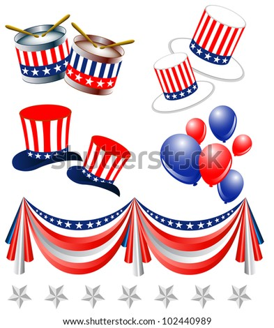 President day elements - stock vector