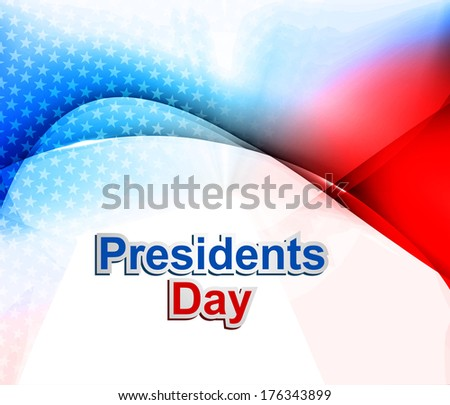 President Day in United States of America colorful wave vector illustration - stock vector