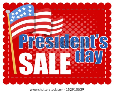 President Day Sale - stock vector