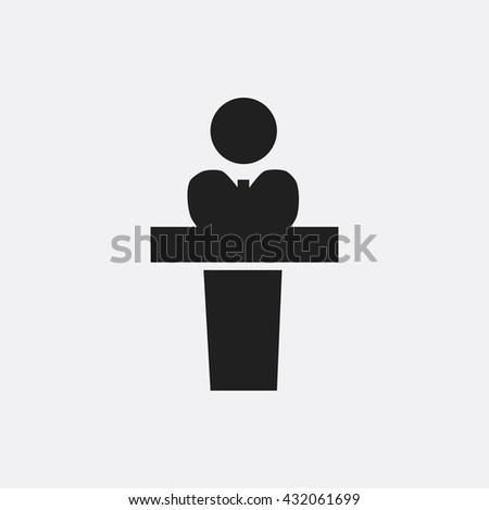 President speech Icon, President speech Icon Eps10, President speech Icon Vector, President speech Icon Eps, President speech Icon Jpg, President speech Icon, President speech Icon Flat - stock vector