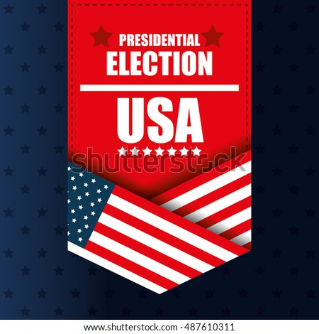 presidentail election usa banner graphic