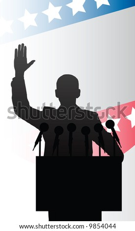 presidential candidate - stock vector
