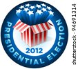 Presidential Election Badge . Exploding American star box. All elements are layered in vector file. - stock vector