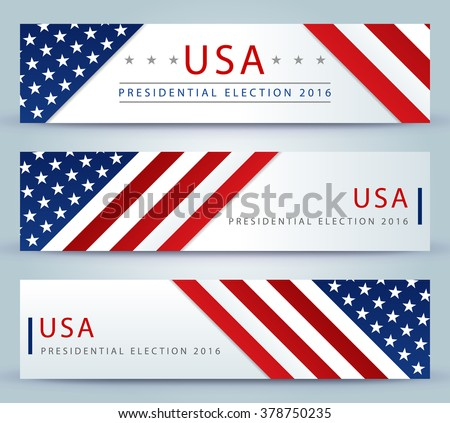 Presidential election banner background - stock vector