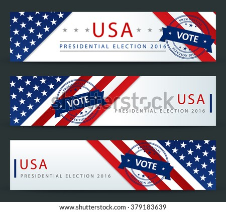 Presidential election in the USA - banner template - stock vector