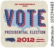 Presidential election 2012. Vector, eps10. - stock photo