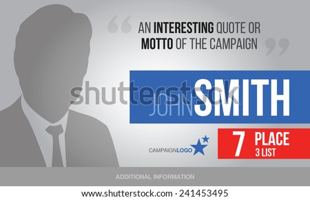 Presidential or parliament elections poster template, vector billboard for campaign - stock vector