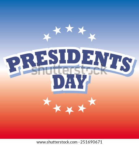presidents day america holiday banner and sign vector