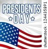 presidents day background, flag united states. vector illustration - stock vector