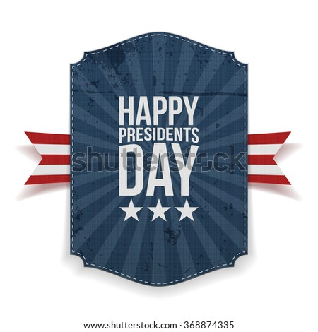 Presidents Day big realistic Banner Template - stock vector