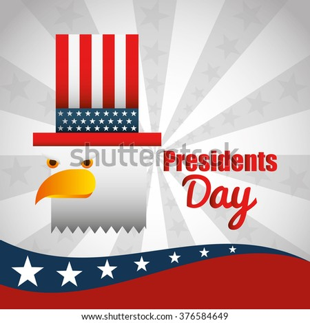 presidents day design  - stock vector