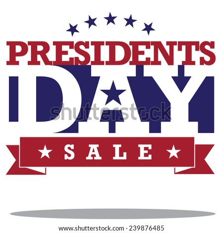 Presidents Day Icon EPS 10 vector stock illustration - stock vector