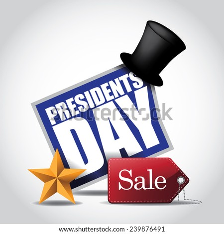 Presidents Day Sale Icon EPS 10 vector stock illustration - stock vector