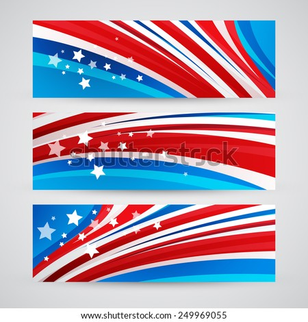 Presidents Day Vector Background - stock vector