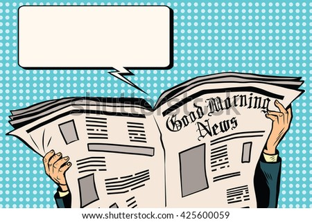 Press newspaper read news - stock vector