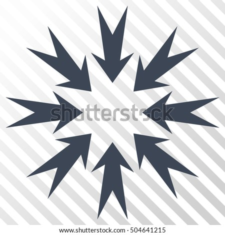 Pressure Arrows vector icon. Image style is a flat smooth blue iconic symbol on a hatch diagonal transparent background.