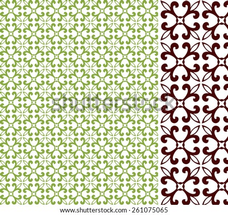 Pretty Pattern - access swatch   - stock vector