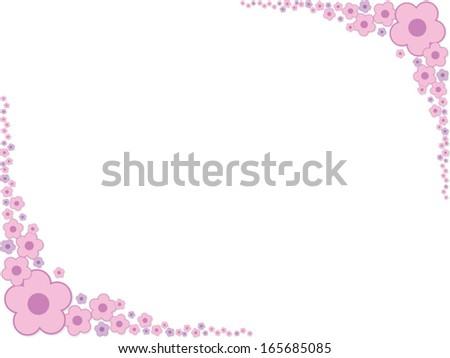 pretty pink border floral - photo #15