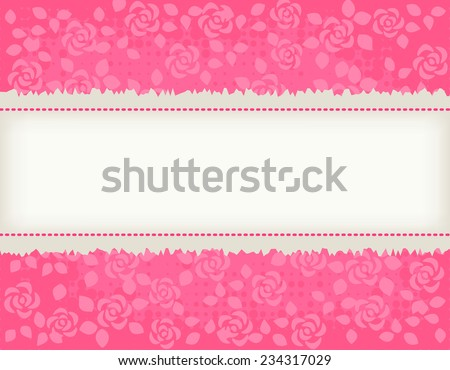 Pretty pink roses textured background with light brown frame. specially for wedding , bridal shower themed  invitation designs