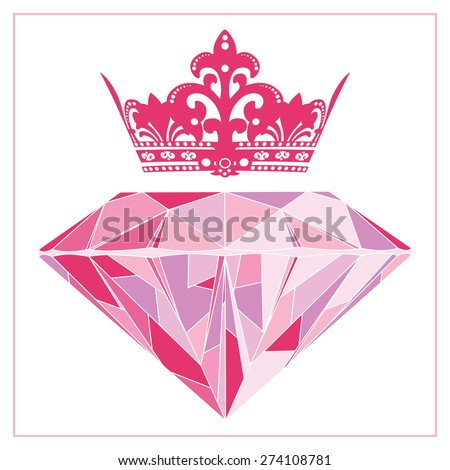 Pretty Princess Diamond - stock vector