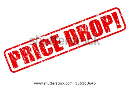 PRICE DROP red stamp text on white - stock vector