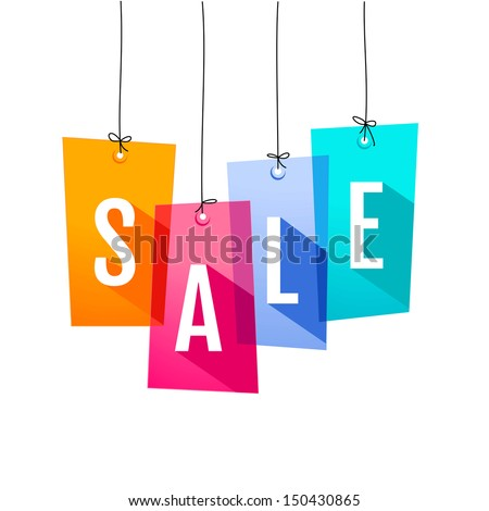 Price labels. Sale - stock vector