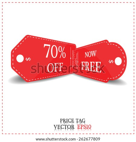 price tag banner-vector - stock vector