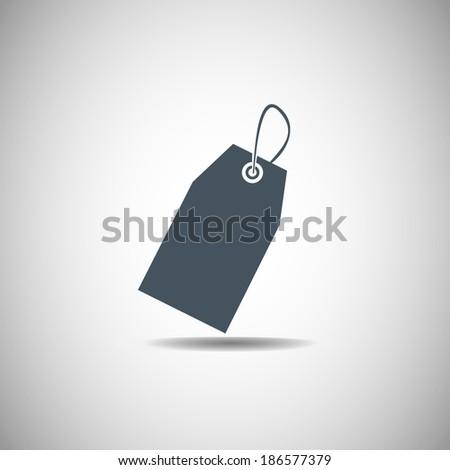 price tag black icon. vector illustration  - stock vector