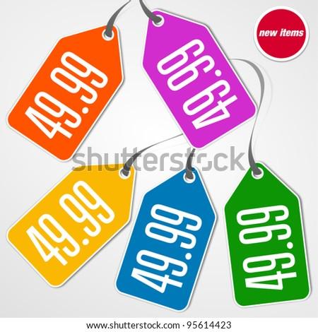 Price Tag Design - stock vector
